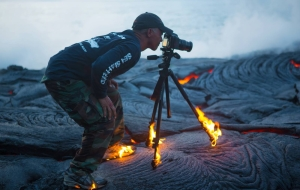 Fearless Adventure Photographer Goes Through Fire To Get The Shot